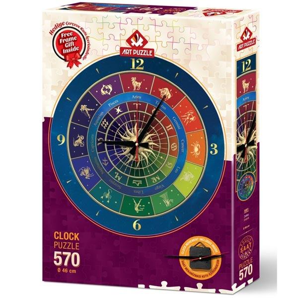 Art puzzle Clock - Zodiac 570pcs - ODDO igračke