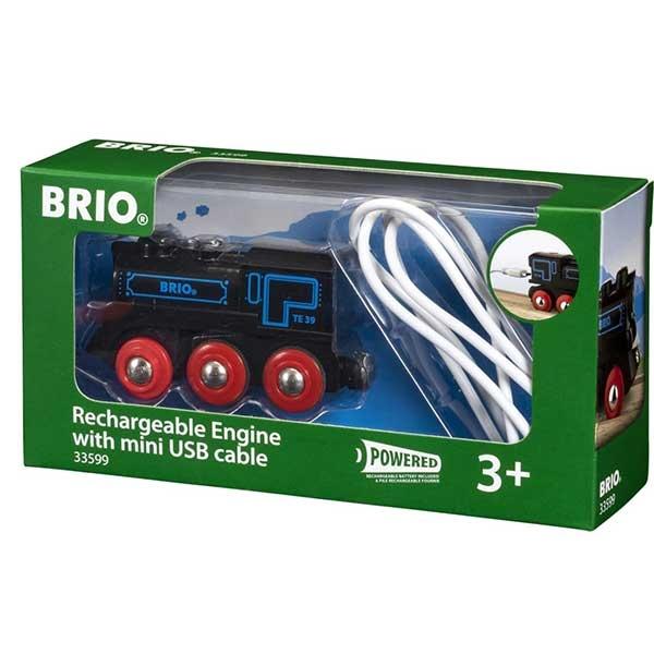 Punjiva lokomotiva sa mini USB kablom Brio BR33599 - ODDO igračke