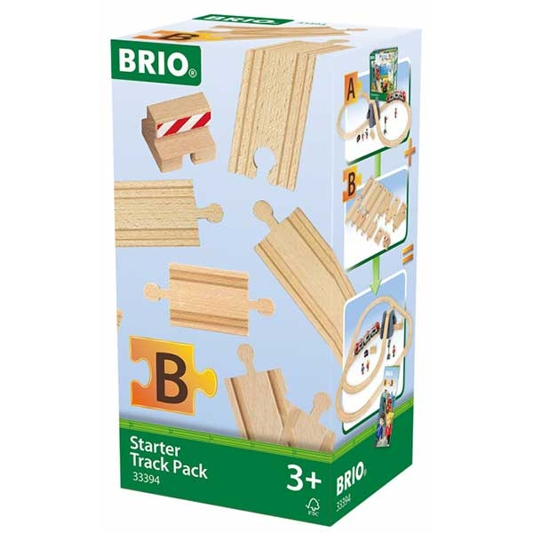 Delovi za prugu - šine za početnike sa stop šinom Brio BR33394 - ODDO igračke