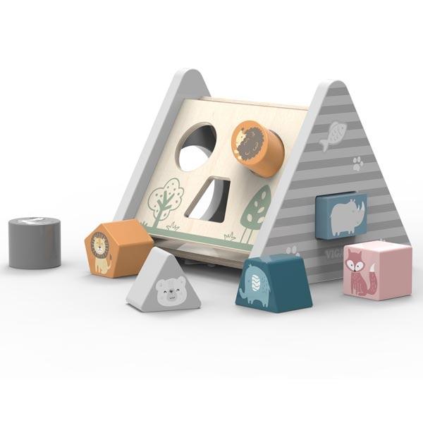 Drvena Viga PolarB Piramida sa umetaljkom 44007 - ODDO igračke
