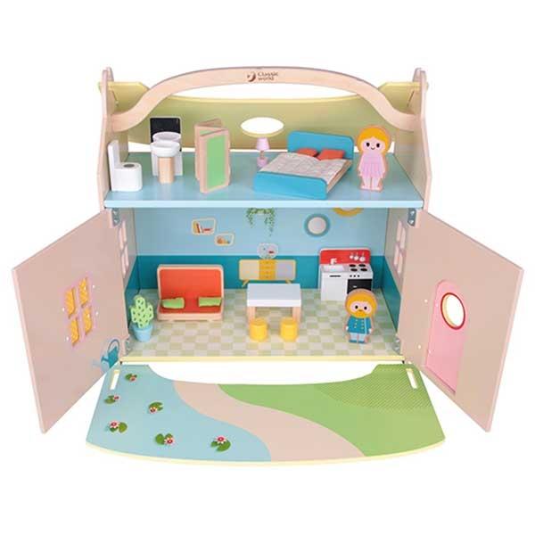 Kućica za lutke - prenosivi kofer CW 53665-22018 - ODDO igračke
