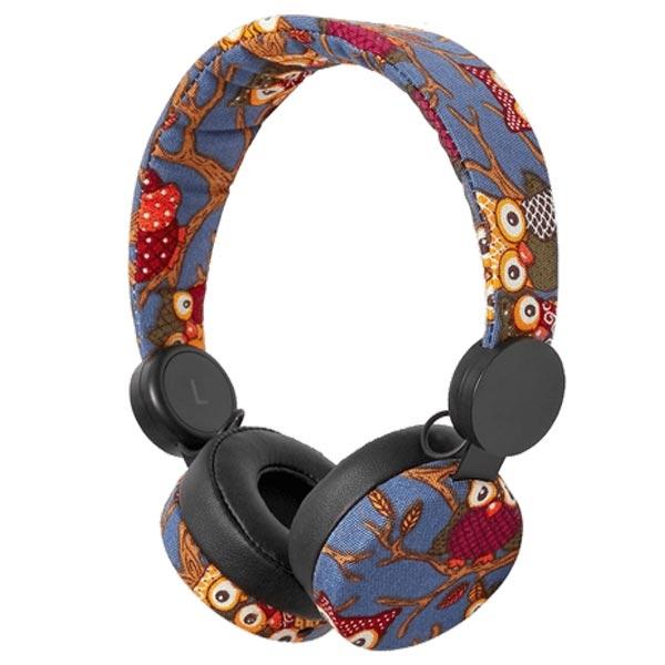 Nedis Plava Sova slušalice HPWD4101BK - ODDO igračke