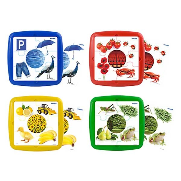 Set 4 puzzle - osnovne boje Miniland 35250 - ODDO igračke