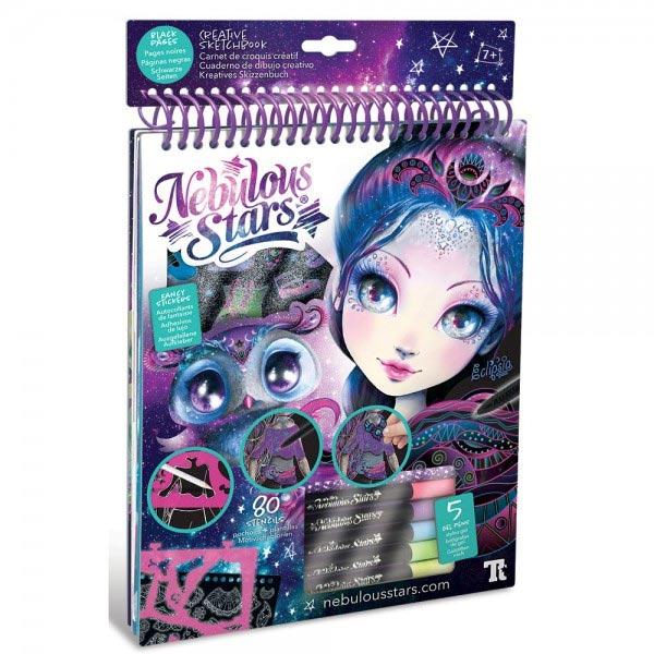 Nebulous Stars Creative Sketchbook Kreativni Blok za crtanje sa crnim listovima Eclipsia 11121 - ODDO igračke