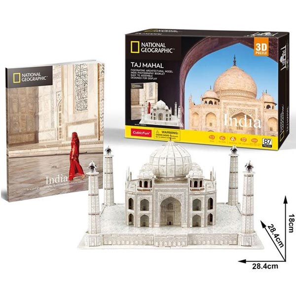 CubicFun Puzzle 3D National Geographic Taj Mahal CBF209810 - ODDO igračke
