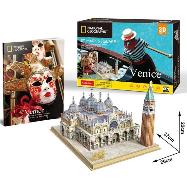 CubicFun Puzzle 3D National Geographic St Marks Square Venice CBF209803 - ODDO igračke