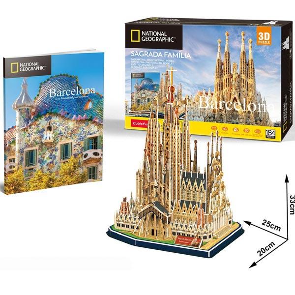 CubicFun Puzzle 3D National Geographic Sagrada Familia Barcelona CBF209841 - ODDO igračke