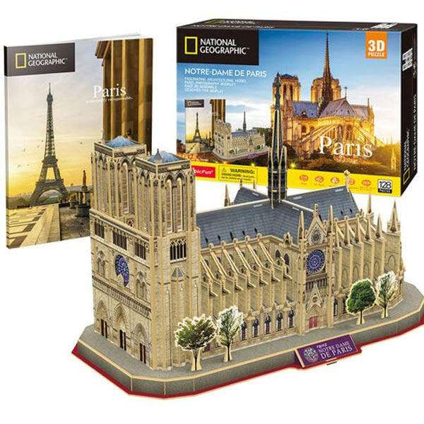 CubicFun Puzzle 3D National Geographic Notre Dame Paris CBF209865 - ODDO igračke