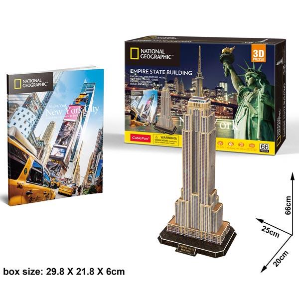 CubicFun Puzzle 3D Empire State Building CBF209773 - ODDO igračke