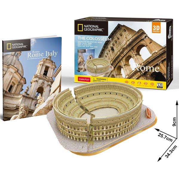CubicFun Puzzle 3D National Geographic The Colosseum Rome CBF209766 - ODDO igračke