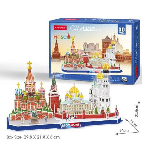 CubicFun Puzzle 3D City Line Moscow CBF202668 - ODDO igračke