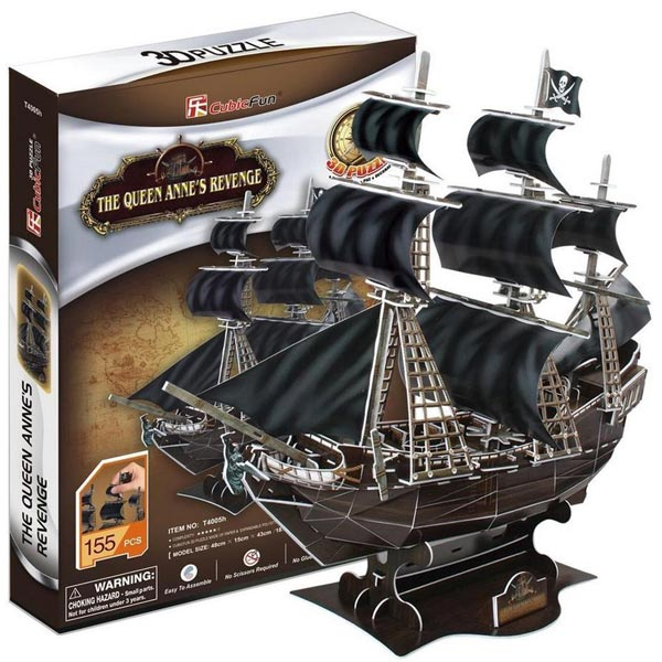 CubicFun 3D Puzzle Queen Annes Revenge 155 Piece CBF240059 - ODDO igračke