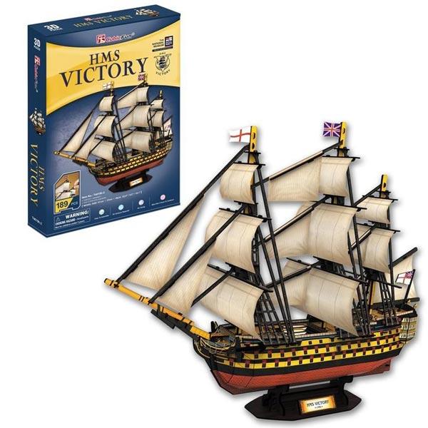 CubicFun 3D Puzzle HMS Victory 189pcs CBF240196 - ODDO igračke