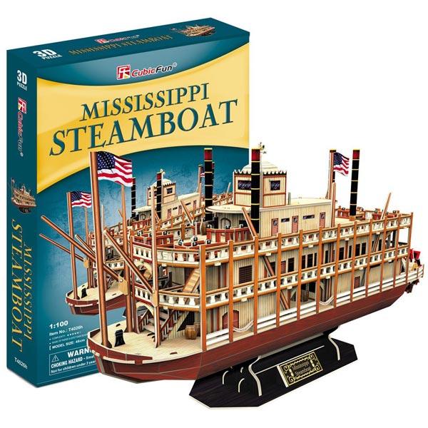 CubicFun 3D Puzzle Mississippi Steamboat 142 dela CBF240264 - ODDO igračke