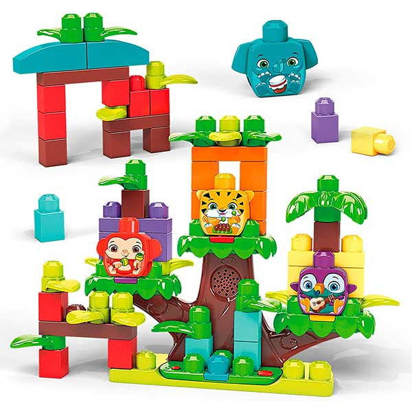 Fisher Price - Mega Bloks First Builders Jungle Treehouse Band 60pcs B/O GGG11 - ODDO igračke