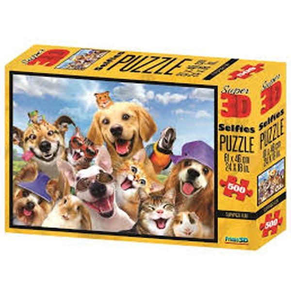Prime 3D Super 3D puzzle Letnja zabava Selfie 500 delova 61X46cm 10160 - ODDO igračke