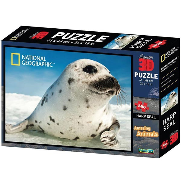 National Geographic - Amazing Animals Foka Super 3D Puzzle Prime 3D 10072 - ODDO igračke