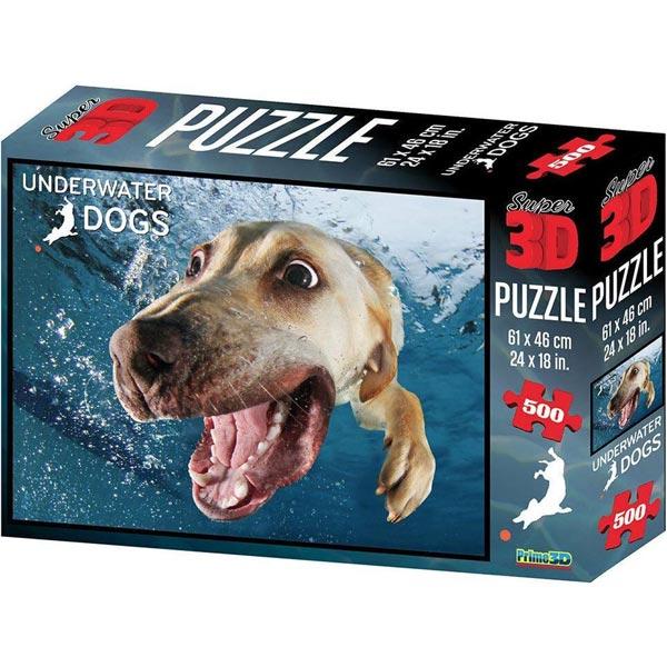 Prime 3D Super 3D puzzle Underwater Dog Pas Bella 500 delova 61X46cm 10083 - ODDO igračke