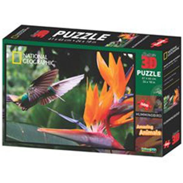 National Geographic - Amazing Animals Kolibri Super 3D Puzzle Prime 3D 500 delova 10164 - ODDO igračke