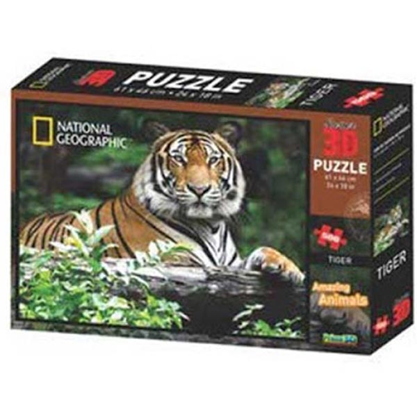 National Geographic - Amazing Animals Tigar Super 3D Puzzle Prime 3D 500 delova 10163 - ODDO igračke