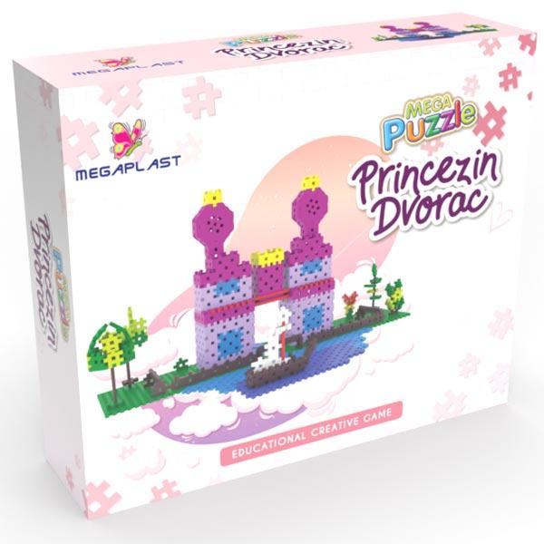 Mega puzzle princezin dvorac 951572 - ODDO igračke