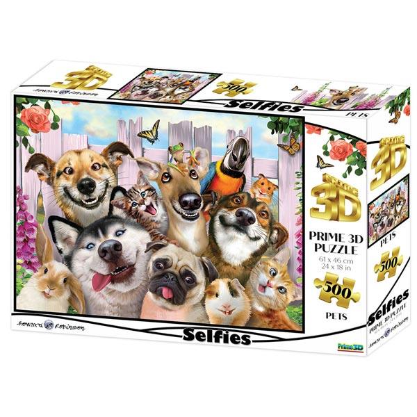 Prime 3D Super 3D puzzle Kućni ljubimci Selfies 500 delova 61X46cm 10062 - ODDO igračke