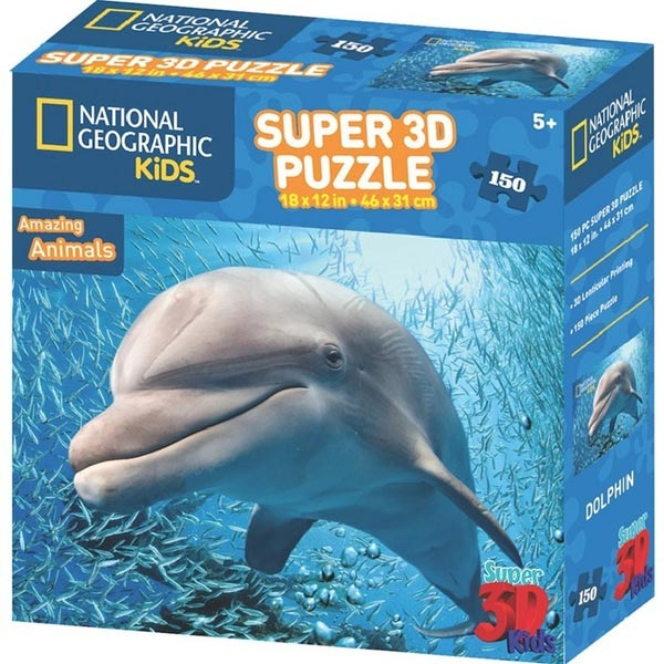 National Geographic Kids - Amazing Animals Delfin Super 3D Puzzle Prime 3D 150 delova 10823 - ODDO igračke