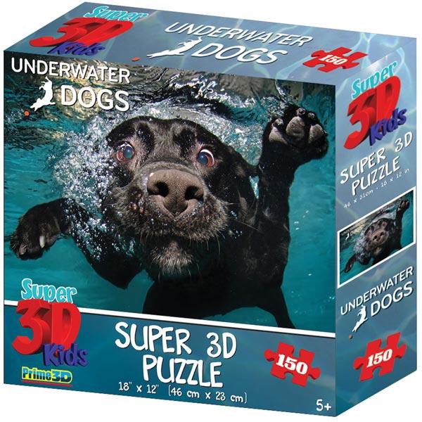 Prime 3D Super 3D puzzle Underwater Dogs Pas Duchess 150 delova 31X46cm 10867 - ODDO igračke