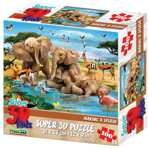 Prime 3D Super 3D puzzle Making a Splash 100 delova 31x23cm 70827 - ODDO igračke