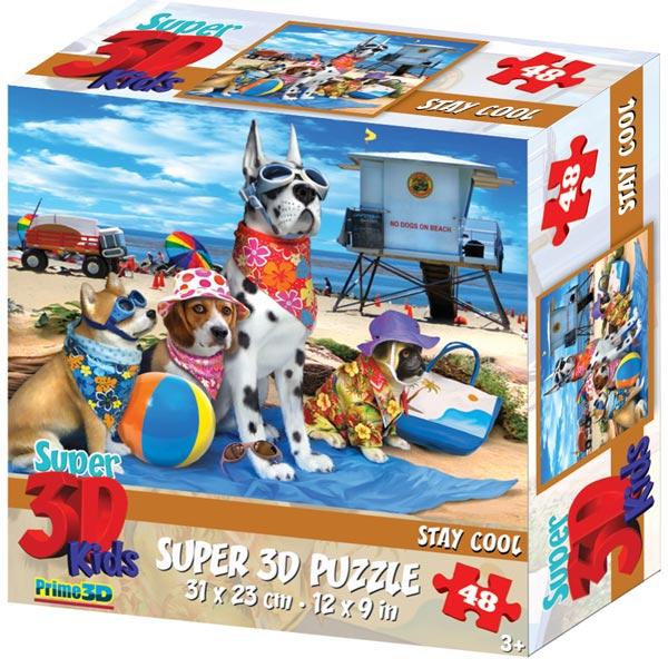 Prime 3D Super 3D puzzle Stay Cool 48 delova 31x23cm 70825 - ODDO igračke