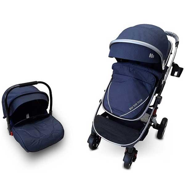 Kolica za bebe set BBO SPRINTER - Plava 808CPLAS - ODDO igračke