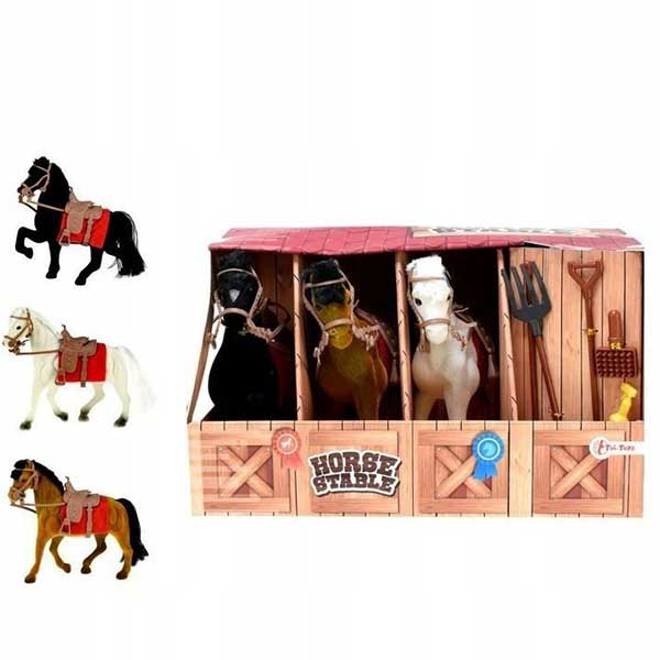 Konj 3 komada i štala set za igru 06223 - ODDO igračke