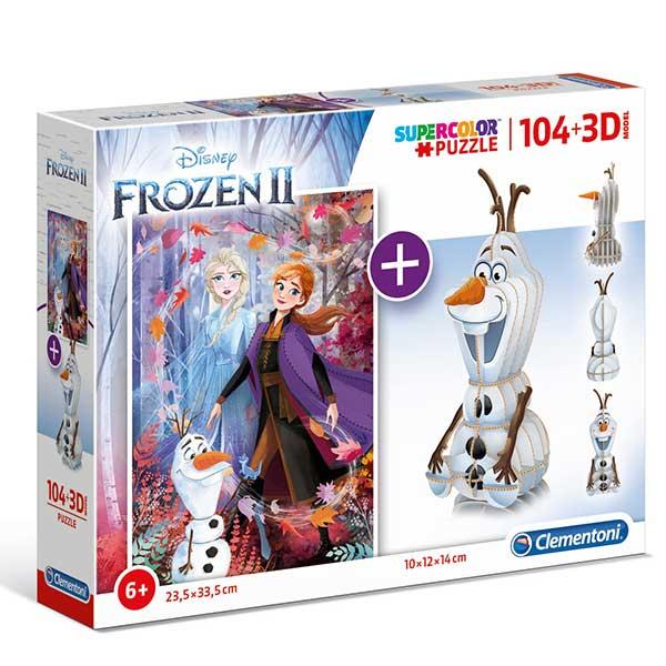 Clementoni puzzla Frozen 2 104pcs + 3D model 20170 - ODDO igračke