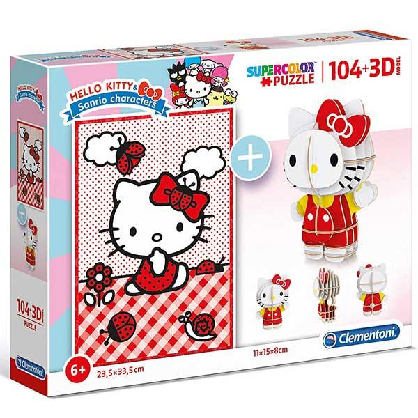 Clementoni puzzla Hello Kitty 104pcs + 3D model 20171 - ODDO igračke