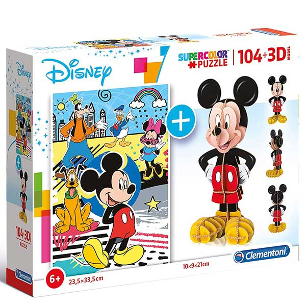 Clementoni puzzla Mickey Mouse 104pcs + 3D model 20157 - ODDO igračke