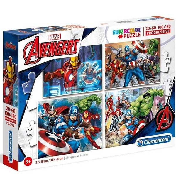 Clementoni puzzla Marvel Avengers 4 in 1 Progressive 07722 - ODDO igračke