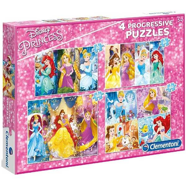 Clementoni puzzla Disney Princess 4 in 1 Progressive 07721 - ODDO igračke