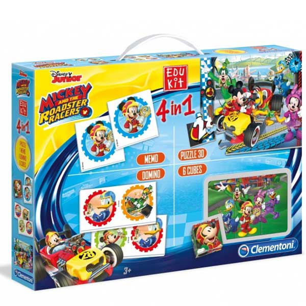 Clementoni Edu Set 4 in 1 Mickey Mouse and the Roadster Racers 13760 - ODDO igračke