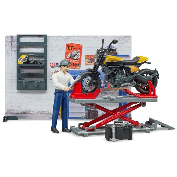 Servis za motore sa Ducati motorom žuti Bruder 621025 - ODDO igračke
