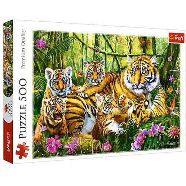 Trefl Puzzla The Tiger Family 500pcs 37350 - ODDO igračke