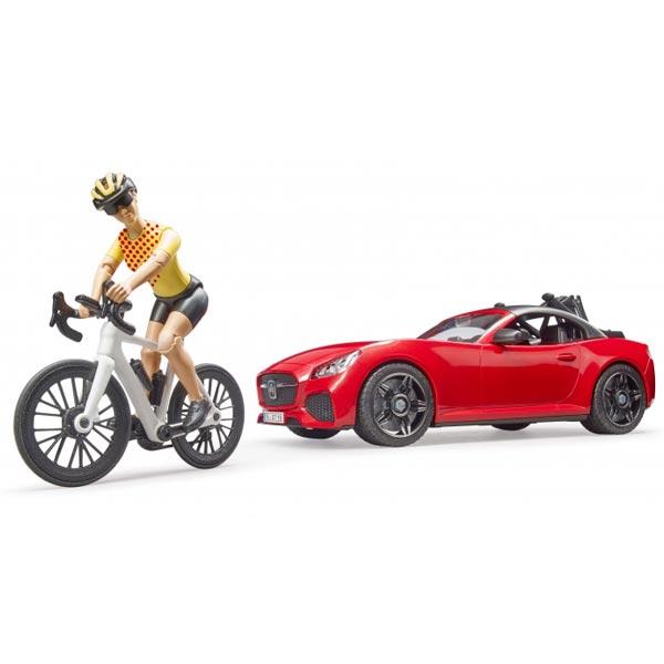 Auto Roadster sa biciklistom Bruder 034856 - ODDO igračke