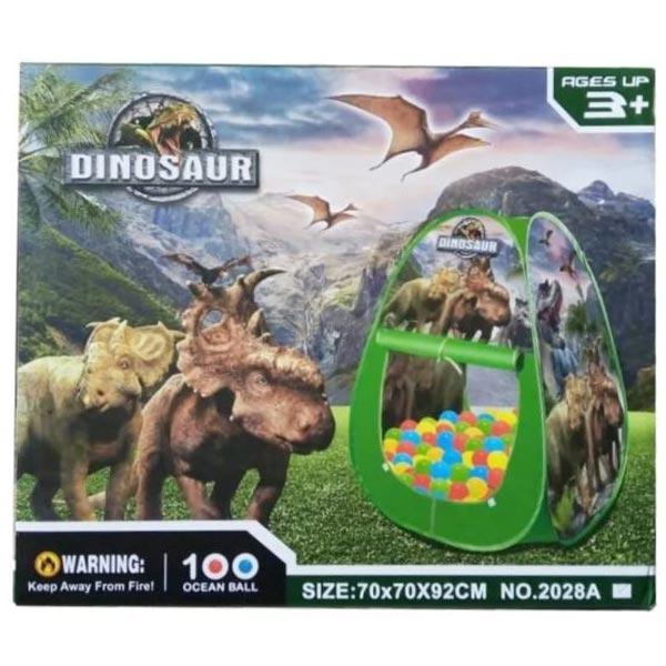 Šator dinosaurus sa lopticama 40x15x34cm 2028A - ODDO igračke