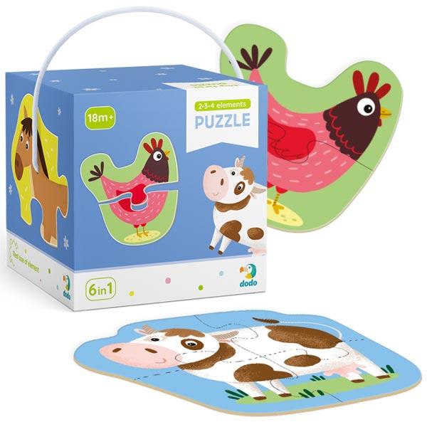 Dodo Slagalice od 2-3-4 delova - Domaće životinje COR152 - ODDO igračke