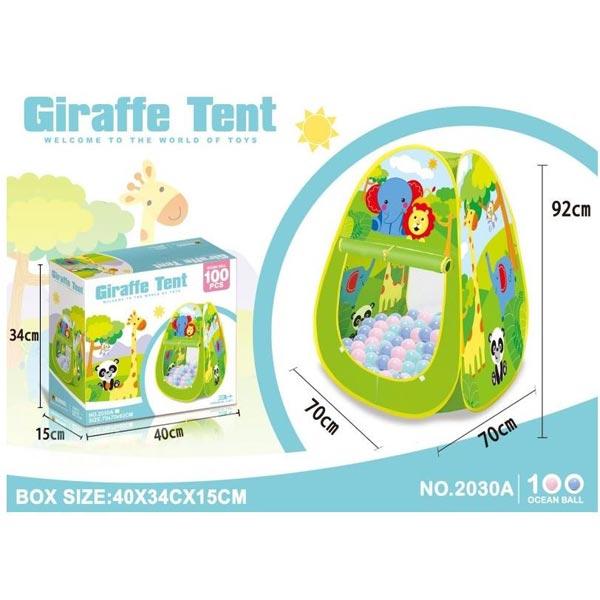 Šator žirafa baby sa lopticama 40x15x34cm 2030A - ODDO igračke