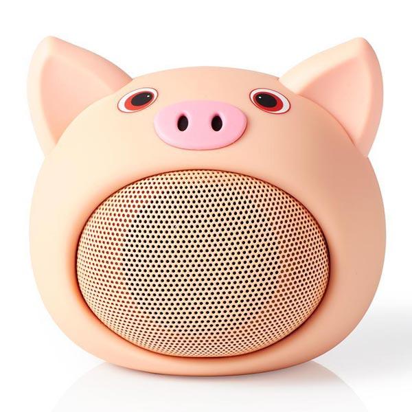 Zvučnik Nedis Pinki Prase Bluetooth SPBT4110NC - ODDO igračke