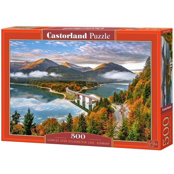 Castorland puzzla 500 Pcs Sunrise over the Sylvenstein lake, Germany 53353 - ODDO igračke