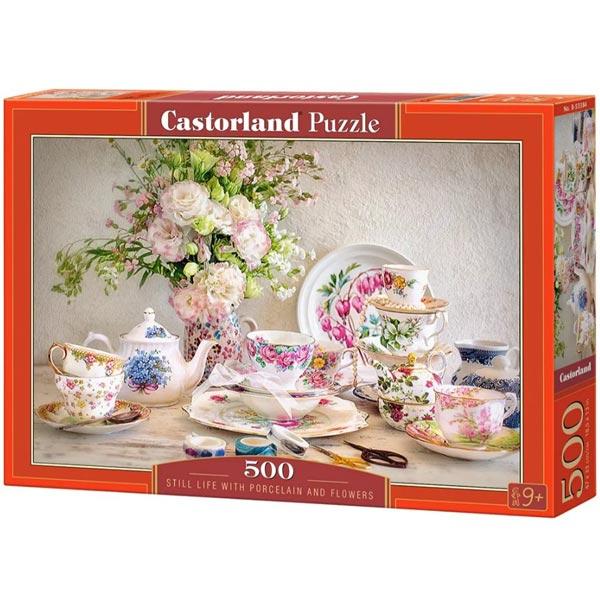 Castorland puzzla 500 Pcs Still Life with Porcelain and Flowers 53384 - ODDO igračke