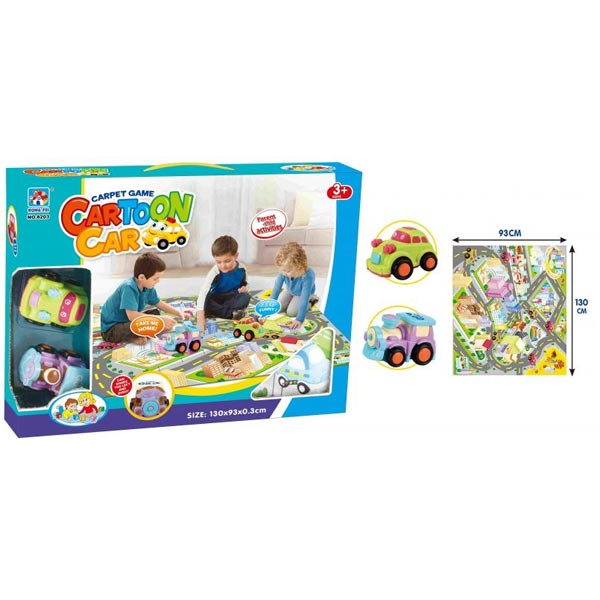 Podloga za igru grad sa 2 autića 130x93x0,3cm 8203 CR28203 - ODDO igračke