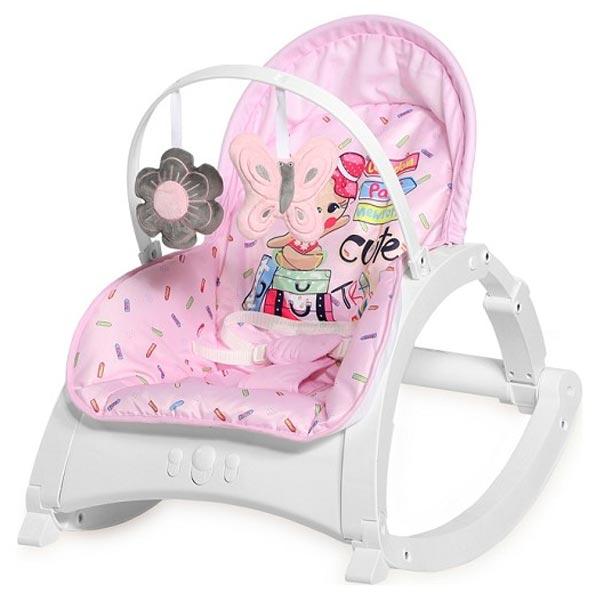 Ležaljka/ljuljaška Enjoy Pink Traveling 10110112046 - ODDO igračke