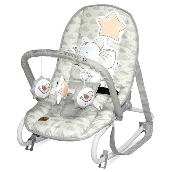 Ležaljka Top Relax Light Grey Elephant 10110022048 - ODDO igračke